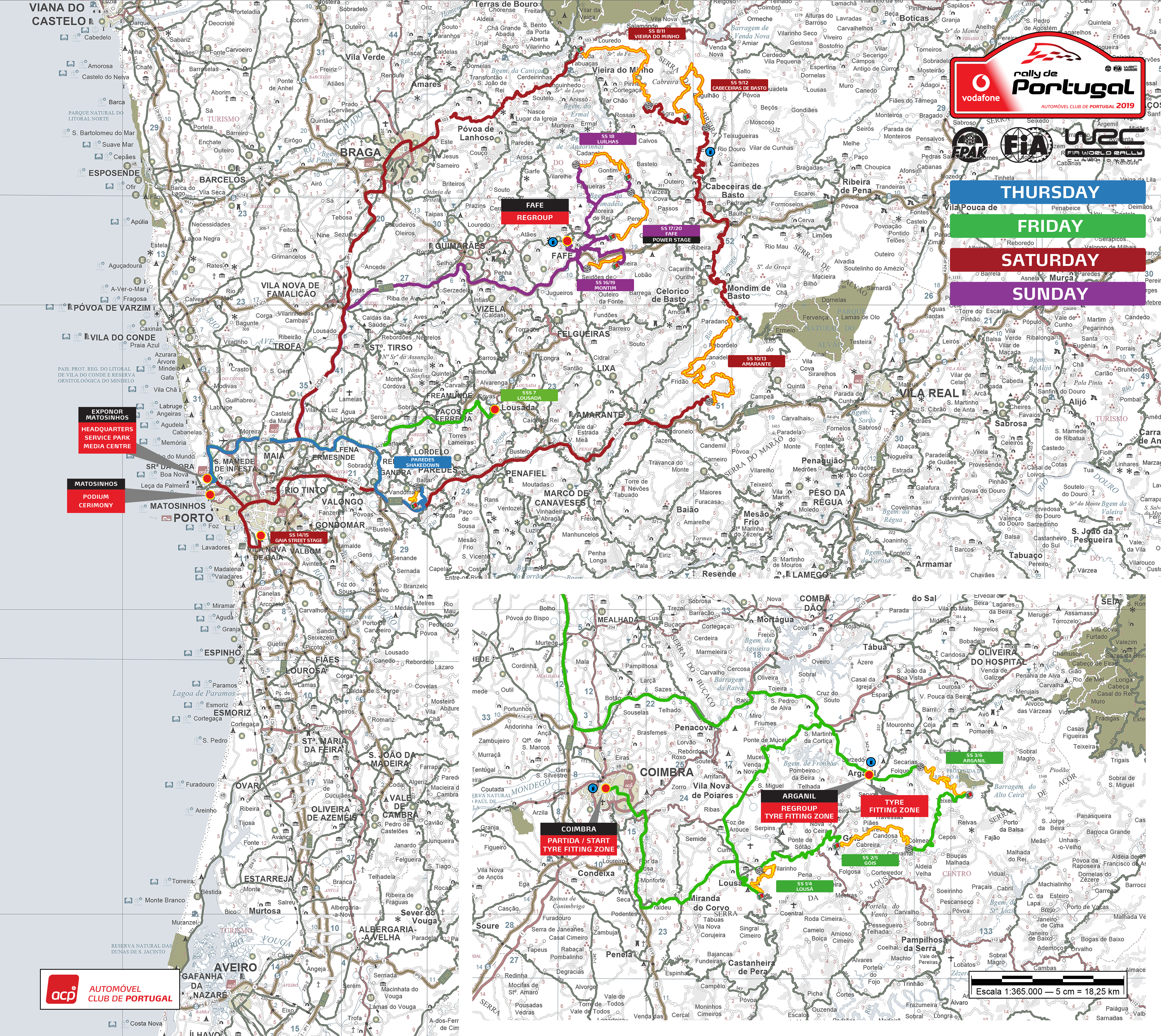 Rally De Portugal In The North And Centre Of The Country