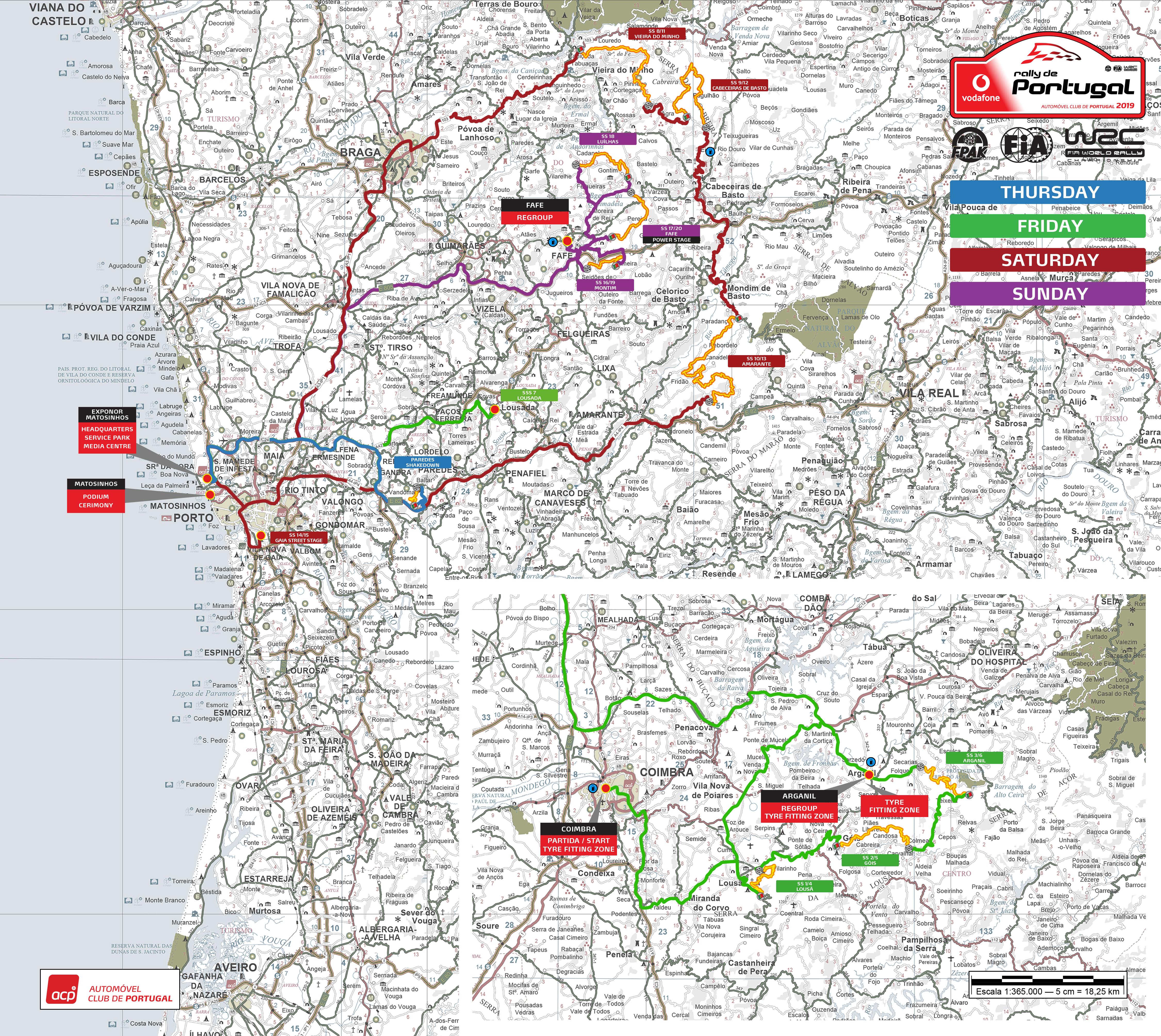 Rali De Portugal 2019 Os Mapas Das Especiais 0 Aos 100